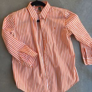 Ralph Lauren Polo blouse orange stripe Size S